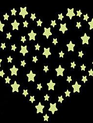 adesivos de parede adesivos de parede luminosos, estrelas de estilo de parede pvc etiquetas
