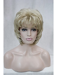 "New  Fluffy Wave Short 14"" Women's Wig  Honey Blonde Mix Blonde Synthetic Hair Full Wig"
