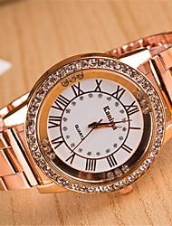 baratos -yoonheel Mulheres Relógio de Pulso imitação de diamante Metal Banda Casual / Fashion / Elegante Prata / Dourada / Ouro Rose / Um ano / SODA AG4