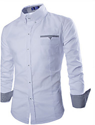 Afslappede skjorter ( Bomuld ) MEN Lang Ærmet