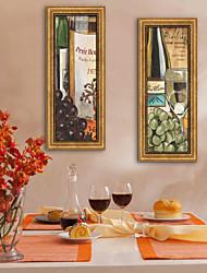 Fantasia / Cibo/bevande Tele con cornice / Set con cornice Wall Art,PVC Oro Senza passepartout con cornice Wall Art