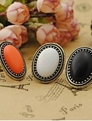 abordables -anneau de pierres précieuses ellipse vintage des femmes chanceuses star style élégant