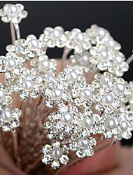 cheap -Crystal Imitation Pearl Fabric Alloy Tiaras 1 Wedding Party / Evening Headpiece