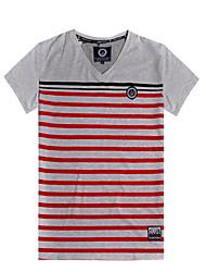 cheap -Men's Printing Stripe New Design Short Sleeve Top Tee T-Shirt(100%Cotton)6002