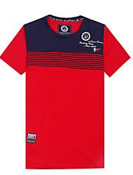 cheap -Men's Contrast Color New Design Short Sleeve Top Tee T-Shirt(100%Cotton)MTS081