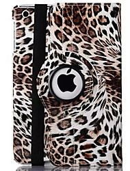 cheap -Case For iPad 4/3/2 with Stand Auto Sleep / Wake Origami 360° Rotation Full Body Cases Leopard Print PU Leather for iPad 4/3/2
