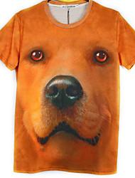 billige -Herre-Multi Farve Vintage Stil Klassisk & Tidløs T-shirt