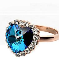 abordables -Femme Cristal Anneau de déclaration - Imitation Diamant, Alliage dames, Luxe, Mode Taille Unique Argent / Doré Pour Mariage Soirée