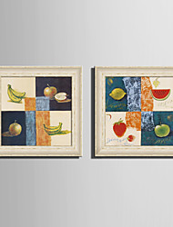 E-HOME® Framed Canvas Art, Fruits Framed Canvas Print Set of 2