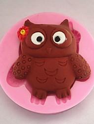 Bageforme silikone dejlig ugle bageforme til chokoladekage gelé (tilfældige farver)