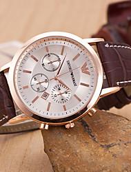 Недорогие -z.xuan женщин / мужчин стальной ленты аналогового кварц случайные часы