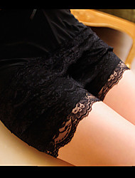 cheap -Women's Fashion Summer Lace Chic Shorts, Polyerster Black White