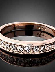 Statement Rings Cubic Zirconia Simulated Diamond Alloy Fashion Simple Style Screen Color Jewelry Wedding Party 1pc
