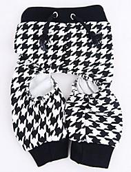 Gatto Cane Pantalone Abbigliamento per cani Cosplay Matrimonio Nero