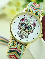 cheap -Women's New Fashion Ethnic Style Colorful Skull Woven Bracelet Watch Cool Watches Unique Watches