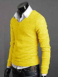 cheap -Men's Fashion V-Neck Color Sweater,High Quality California Rabbit's Cashmere Hot Selling