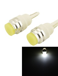 Carking™ T10 Ceramic 1W 80lm LED Soft Light Car Side Light / Reading lamp - (12V / 2 PCS)