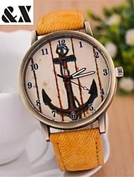 Women's Fashion Diamond Lovely Anchor Quartz Analog Denim Belt Bracelet Watch(Assorted Colors) Cool Watches Unique Watches