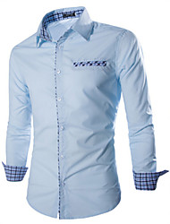 economico -MEN - Camicie casual Maniche lunghe Cotone