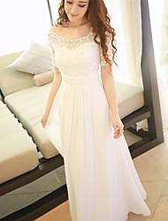 Недорогие -Жен. Классический и неустаревающий А-силуэт Платье - Сплошной цвет, Чистый цвет