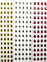 500 Stück Weiche Fischköder / Gummifische Angelköder Weiche Fischköder / Gummifische Silber Rot Gold-Blau-Rücken g/Unze mm Zoll,Plástico