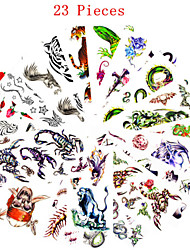 cheap -23 Non Toxic Pattern Waterproof Animal Series Flower Series Others Tattoo Stickers