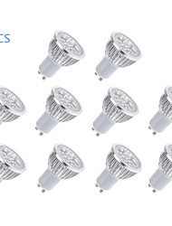 cheap -10pcs 300lm GU10 LED Spotlight MR16 5 LED Beads High Power LED Warm White / Cold White 85-265V