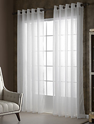 cheap -Sheer Curtains Shades Bedroom Solid Colored Polyester Embossed