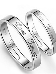 cheap -Men's Women's Couple Rings A B Sterling Silver Silver Fashion Wedding Party Engagement Daily Casual Costume Jewelry