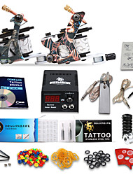 kits de tatouage starter dragonhawk® 2 doublure de machine en fonte& shader lcd bloc d'alimentation kit complet