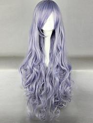 cheap -Women Synthetic Wig Long Deep Wave Purple Costume Wig