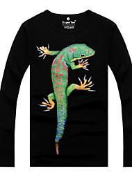 MEN - T-shirt - Informale Rotondo - Maniche lunghe Cotone organicp