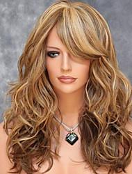 Недорогие -жен. Парики из искусственных волос Средний Золотой парик Костюм Парик для Хэллоуина Карнавальный парик Карнавальные парики