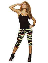 cheap -Women's Running Tights / Gym Leggings Sports Geometic, Fashion, Camouflage 3/4 Tights / Clothing Suit Yoga, Fitness, Gym Activewear Quick Dry, Wearable, Compression Stretchy