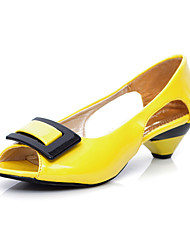 Yellow Peep Toe Heels - Lightinthebox.com