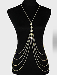 cheap -Body Chain Unique Design, Party, Casual Women's Gold Body Jewelry For Party