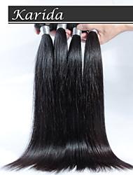 お買い得  -ペルーストレートバージンヘア、4個/ロット送料無料トップ品質ペルー人の人間の髪の毛