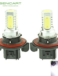 cheap -H13 P26.4T 10W 900Lm 5 x COB LED Cold White Light Polarity Free Car Foglight / Headlamp / Tail Light (12-24V)