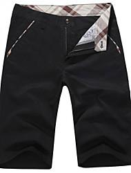 お買い得  -男性用 クラシック・タイムレス スリム ショーツ パンツ パンツ ソリッド 純色