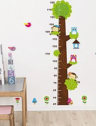 economico -autoadesivi della parete decalcomanie della parete, simpatici i wall stickers colorati albero PVC estraibile altezza del fumetto.