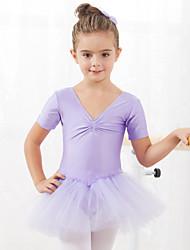 Danza classica Abiti/Gonne Tutù e gonne Abiti Per bambini Da esibizione Addestramento Cotone Tulle 1 pezzo Maniche corte Da ballo Abito