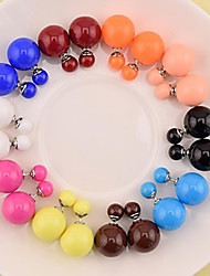 cheap -Women's Pearl - Fashion Brown Blue Pink Earrings For Daily