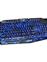 cheap -DuShiFangYuan USB Wired 114-Key LED Backlit Burst Crack Style Gaming Keyboard Luminous Programmable
