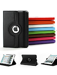 cheap -Case For iPad Mini 3/2/1 with Stand Auto Sleep / Wake Origami 360° Rotation Full Body Cases Solid Color PU Leather for iPad Mini 3/2/1