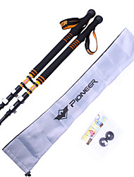 Outdoor 3 Sections Carbon Flip Lock Adjustable Hiking Trekking Poles 2-Pack with Bag