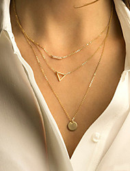 cheap -Women's Simple Style Multi Layer Layered Necklace Alloy Layered Necklace ,