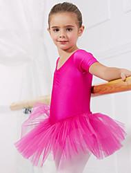 economico -Danza classica Abiti/Gonne Tutù e gonne Abiti Per bambini Da esibizione Addestramento Elastene Tulle 1 pezzo Maniche corte Da ballo Abito