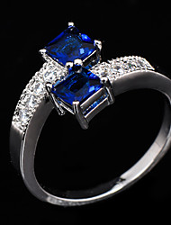 cheap -Women's Statement Ring - Zircon, Cubic Zirconia, Imitation Diamond Fashion 6 / 7 / 8 Blue For Wedding / Party / Daily