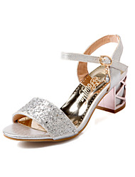 cheap -Women's Shoes Stiletto Heel Gladiator Sandals Wedding/Office & Career/Dress Blue/Silver/Gold