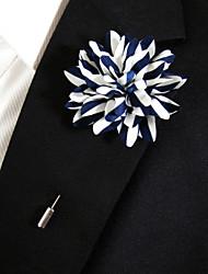 Недорогие -мужской случайный синий и белый шелковый товар брошь классический женский стиль